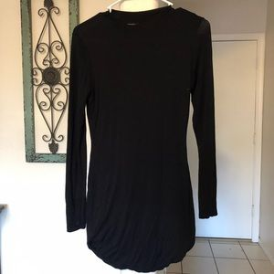 Black tunic mini dress